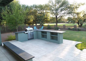 High End Outside Patio Barbecue Tucson Home Remodeling