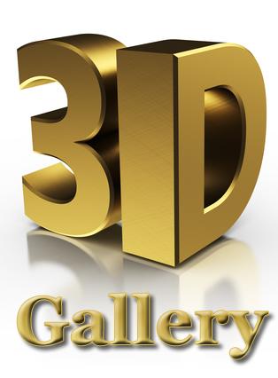 3d Symbol in Gold